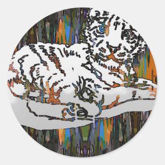 Baby Tiger Classic Round Sticker