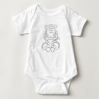 Baby Tiger - Color It Yourself Baby Bodysuit
