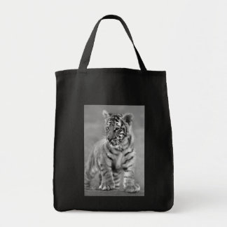 Baby Tiger in Black and white Tote Bag