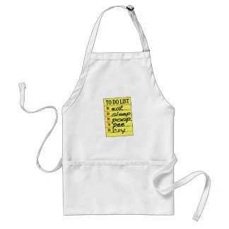 Baby to do list standard apron