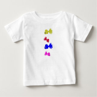 Baby Toddler White Top Fishes T Shirts