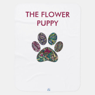 Baby towel, cute & unique flowered puppy paws stroller blanket