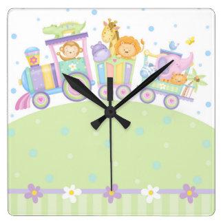 Baby Train Wall Clock
