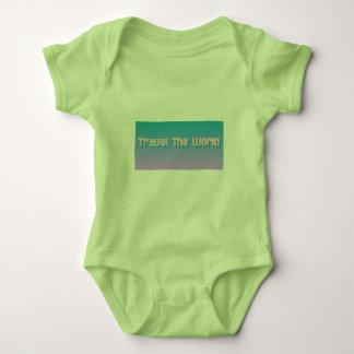 baby travel the world baby bodysuit