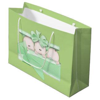 Baby Triplets Unisex large gift bag
