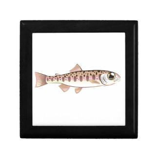 Baby trout cartoonified vector Art fish farm Keepsake Boxes