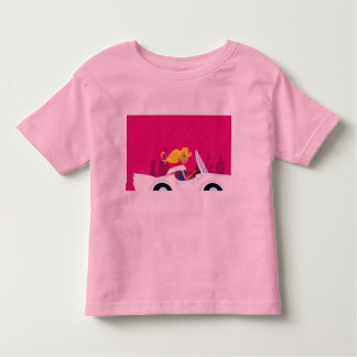 Baby tshirt with Woman in Car illustration