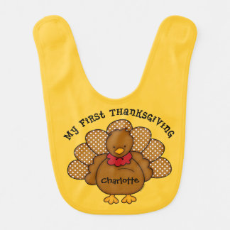 Baby Turkey 1st Thanksgiving Bib