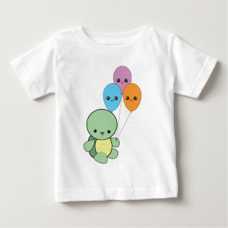 Baby turtle with kawaii balloons. baby T-Shirt