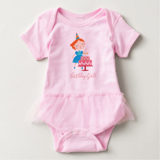 Baby Tutu - Birthday Girl Baby Bodysuit