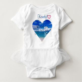 Baby | Tutu | Body Suit | Ocean | Heart Baby Bodysuit