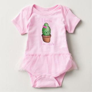 Baby Tutu Bodysuit, Pink cute cactus Baby Bodysuit