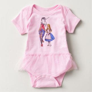 Baby tutu bodysuit with Alice & Unicorn design
