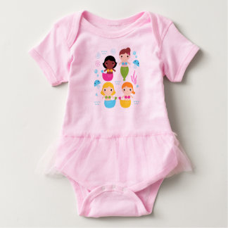 Baby tutu bodysuit with Mare girls