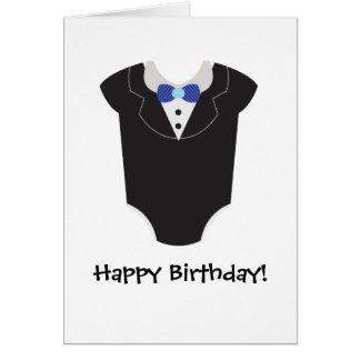baby tuxedo card
