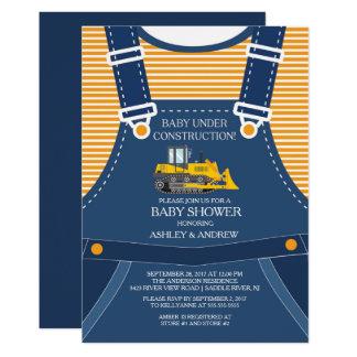 BABY UNDER CONSTRUCTION Baby Shower Invitation