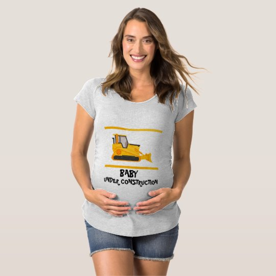 Baby Under Construction  Maternity Top