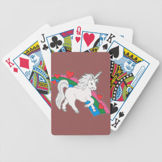 Baby Unicorn Bicycle Playing Cards