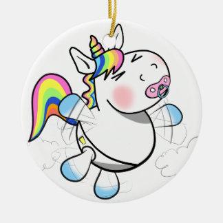 Baby Unicorn Ceramic Ornament