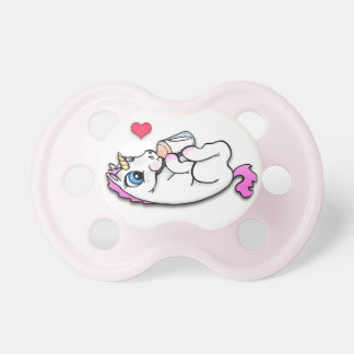 Baby unicorn feeding time - Pink Girl - Pacifier