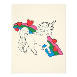 Baby Unicorn Letterhead