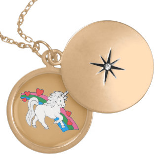 Baby Unicorn Locket Necklace