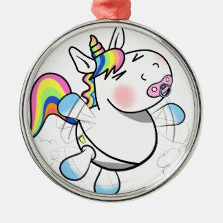 Baby Unicorn Metal Ornament