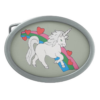 Baby Unicorn Oval Belt Buckles