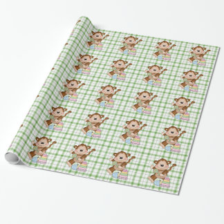 Baby Unisex Monkey cartoon wrapping paper