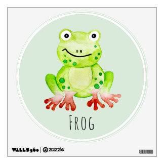 Baby Unisex Watercolor Jungle Frog Nursery Art Wall Decal