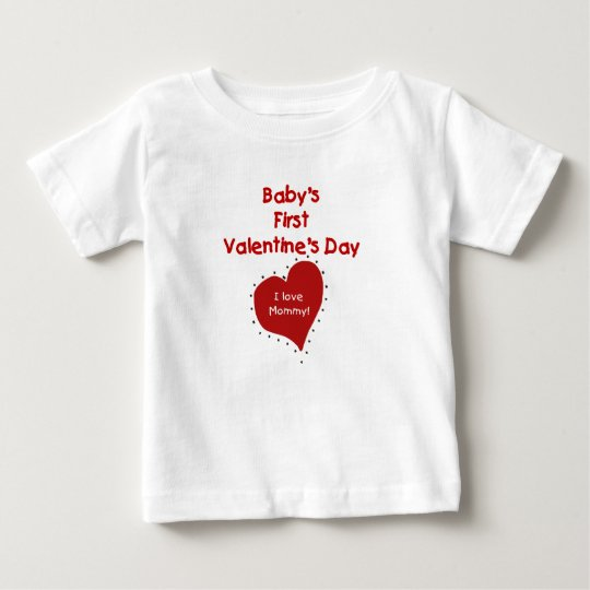 Baby Valentine I Love Mommy Baby T-Shirt