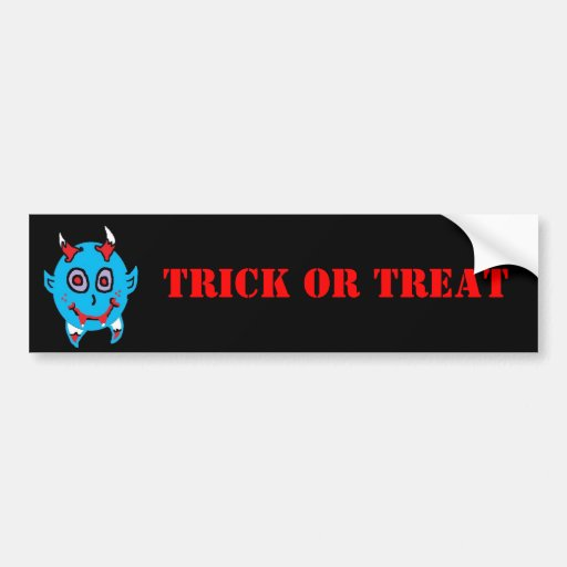Baby Vamp (2), TRICK OR TREAT Bumper Stickers