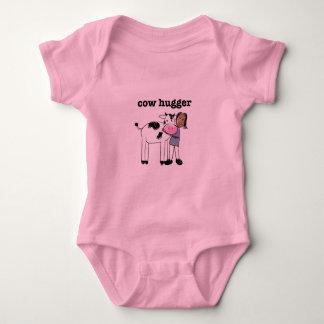 Baby Vegan Girl Shirt - Cow Hugger