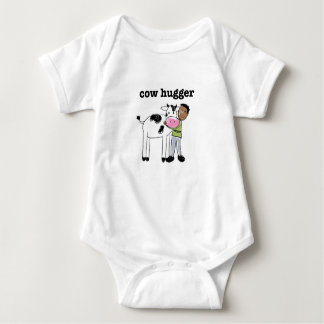Baby Vegan t-shirt - Cow Hugger