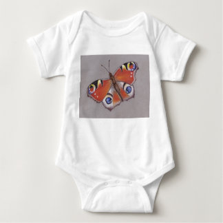 Baby Vest with Peacock Butterfly Baby Bodysuit