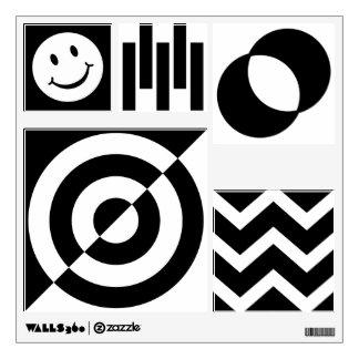 Baby visual stimulation wall decal b/w stickers