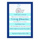 Baby Whale Little Squirt Boy Shower Invitation