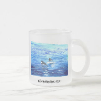 Baby whales, Gloucester, MA. Frosted Glass Coffee Mug