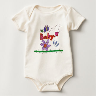 Baby with Butterfly Baby Bodysuit