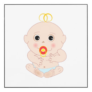 Baby with pacifier cartoon