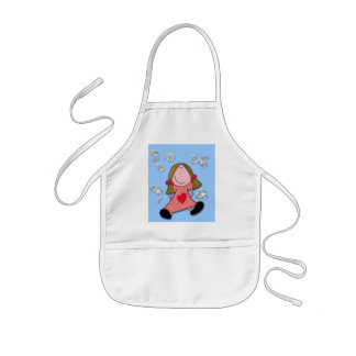 Baby with ponytails Apron