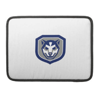 Baby Wolf Cub Head Smiling Crest Retro Sleeve For MacBooks