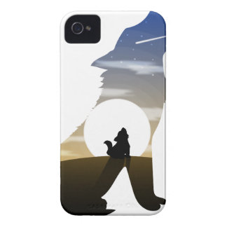 Baby wolf moon iPhone 4 Case-Mate case