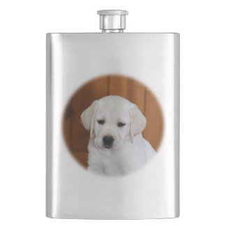 Baby Yellow Lab Hip Flask