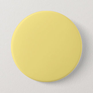 Baby Yellow Personalized Trend Color Background 3 Inch Round Button