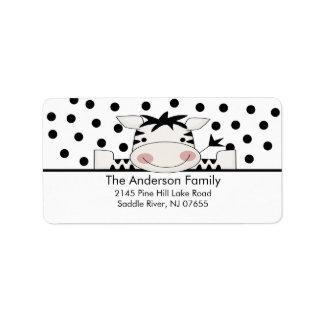 Baby Zebra Baby Shower Address Label
