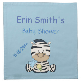 Baby Zebra, Customizable Baby Shower & Mommy to Be Cloth Napkins