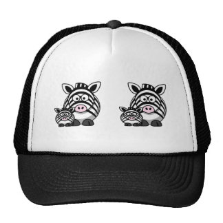 Baby Zebra Family, Cute Wild Safari Trucker Hats