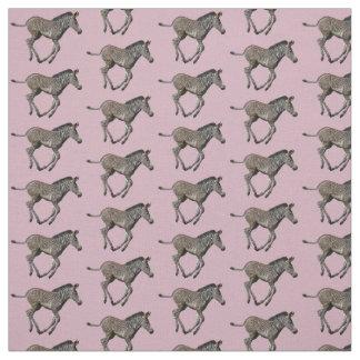 Baby Zebra Frenzy Fabric (Pink)