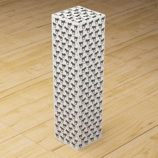 Baby Zebra Frenzy Wine Box (choose colour)